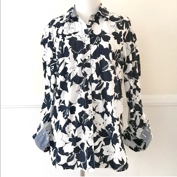 e2825aae7060b0 Tommy Hilfiger Casual Blouse Top Floral Popover. M_5ad17c8c85e60564bda7ac58